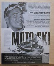 1968 magazine ad for Moto-Ski snowmobiles - Denver Bronco John Huard endorsement