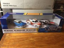 1:50 Hot Wheels  Ford '68 Mustang '64 Galaxie 500 '56 Ford F-100 3 Cars Set