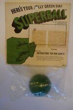 1965 SUPER RARE SEALED WHAM-O JOLLY GREEN GIANT SUPERBALL SUPER BALL WHAMO WAMO
