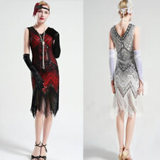 1920s V Neck Beaded Fringed Great Gatsby Dress Popular Womens Flapper Dresses