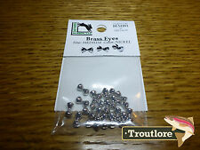 HARELINE BRASS EYES MEDIUM NICKEL DUMBBELL - NEW STREAMER WET FLY TYING MATERIAL