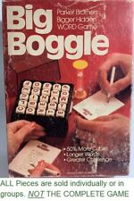 U-PICK 1979 Big Boggle Game Parts Pieces Replacement cubes tray pads timer