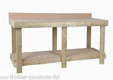 NEW 6ft 1800mm NEW HAND MADE HEAVY DUTY WORK BENCH MDF TOP WITH REAR UPSTAND