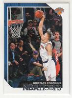KRISTAPS PORZINGIS 2018-19 Panini NBA Hoops #8 New York Knicks Mint