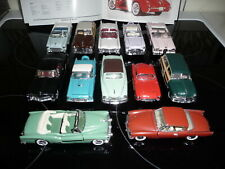 FRANKLIN MINT 1:43, 12x THE CLASSIC CARS of the FIFTIES
