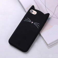 Cute Cat Beard Ear Shape Phone Case Cover Soft Silicone Shockproof For iPhone HP