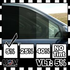 "Uncut Window Tint Roll Film VLT 5% 5 FT 20"" x 60"" Office Car Home Commercial U3"