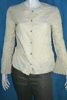 INDIES Taille 1 36 Superbe chemise manches longues beige femme effet froissé