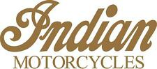 INDIAN MOTORCYCLES VINYL DECALS - SET OF 2 - GOLD