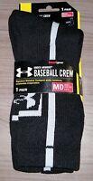 Under Armour Men's Baseball Crew Socks 1 Pair Adult Medium Youth UA Heatgear