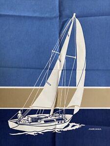 Marushka Vintage Sailboat In Water Unframed Canvas