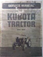 Kubota B6000 Diesel 4x4 Farm Tractor Major Overhaul Service Repair Shop Manual
