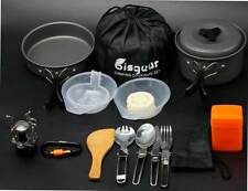 Outdoor 16 PCs Hiking Cookware Set | Camp Camping Picnic Backpacking Cooking Kit