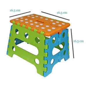 Toddler Foldable Toilet Training Step Foot Stool Plastic Chair W/ Orange Handle