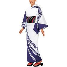 Japanese Yukata wisteria design purple #2 for women summer kimono cloth wafuku