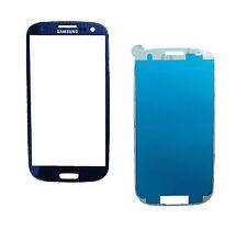 VETRO VETRINO GLASS TOUCH BLU BLUE SAMSUNG GALAXY S3 i9300 NEO i9305 + BIADESIVO
