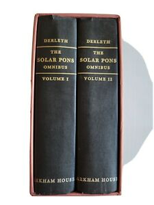 The Solar Pons Omnibus - August Derleth - Hardcover Arkham House 1982 1st Ed.