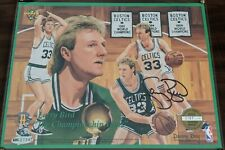 Larry Bird Signed 8x10 UDA Hologram BOLD Auto Framed Plaque Gold Plate Cert L@@K