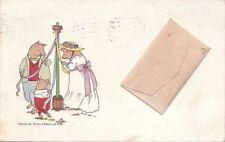 Postcard Art Pigs Around Pole Brown & Bigelow 1901