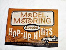 Vintage Aurora Model Motoring 1962 Hop Up Kit Booklet Nice