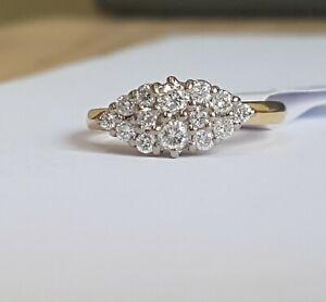18ct Gold Diamond Ring 0.50cts