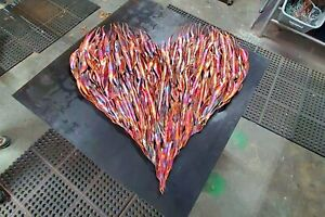 "Metal Wall Art #1919 18"" Heart Steampunk Industrial Housewarming Christmas Gift"