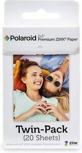 Polaroid 2 x 3 Inch Premium ZINK Zero Photo Paper 20-Sheets- Compatible
