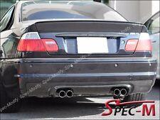 CL Type Carbon Fiber Bumper Diffuser Lip For 01-06 BMW E46 3-Series M3 Only 2Dr