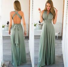 Convertible Multi Way Wrap Bridesmaid Wedding Evening Formal Dresses 6 8 10 12