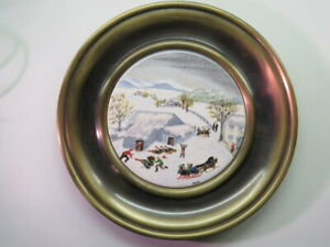 Vintage Decorative PLATE ~ GRANDMA MOSES Catching the Thanksgiving Turkey #73