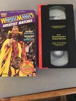 WWF Wrestlemania's Greatest Matches vhs 1992 Coliseum Video Savage Flair Hogan