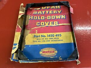1935 - 1954 PLYMOUTH DODGE BATTERY HOLD DOWN COVER 6 CYLINDER MOPAR NOS 1450495