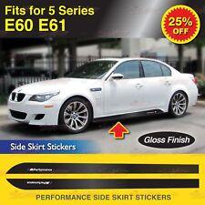 Für BMW E60 E61 5-Serie M Performance Seitenschweller Schweller Aufkleber GLANZ