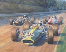 Lotus 49 Jim Clark 1960s F1 Formula One Motor Sport Racing Classic Car Art Print