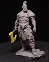 1/24 Resin Figure Unpainted 75MM  Model Kit Ancient Warriorr Unassembled Garage