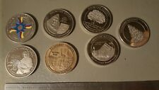 7 Clark University Founders Society Medallions Coin Medals