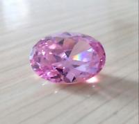 Pink Zircon 8.15Ct 10x12mm Oval Cut AAAAA VVS Loose Gemstone