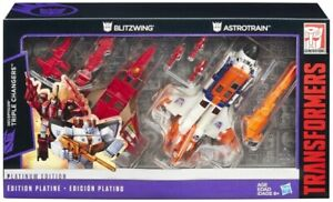 Blitzwing and Astrotrain Set of 2   Transformers Platinum Edition G1 Reissue