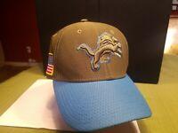 NFL Detroit Lions military fitted flexfit new era 39thirty Hat Cap Small Medium