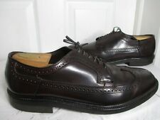 VINTAGE HANOVER LB SHEPPARD SIGNATURES SHELL CORDOVAN LONGWING BURGUNDY 10 D