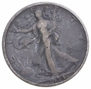 1934 Walking Liberty 90% Silver US Half Dollar *857