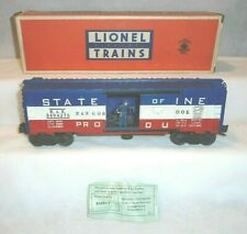"LIONEL No. 3494-275 ""STATE of MAINE"" OPERATING BOX CAR, LN - OB"