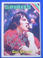 GUS GERARD signed autograph 1975-76 Topps ABA  St. Louis Spirits