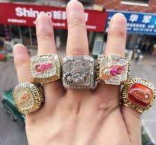5PCS1986 1997 1998 2002 2008 Detroit Red Wings Stanley Cup Championship Ring Set