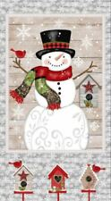 Christmas Snowman Craft Panel Fabric Snow Place Like Home 44