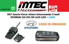 K07 Guscio Cover chiave telecomando 3 tasti HYUNDAI i10 i20 i30 ix35 ix20 + LOGO