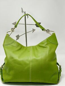 DOONEY & BOURKE XLARGE GREEN pebbled leather hobo SUPER CONDITION