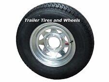 "225/75D15 LRD 8 PR Arisun Bias Trailer Tire on 15"" 6 Lug Galvanized Spoke Wheel"