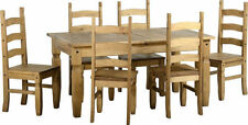 Solid Wood Up to 8 7 Table & Chair Sets