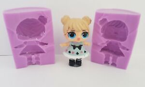 ONE 3d LOL DOLL SILICONE MOULD FOR CAKE TOPPERS, CHOCOLATE, CLAY ETC